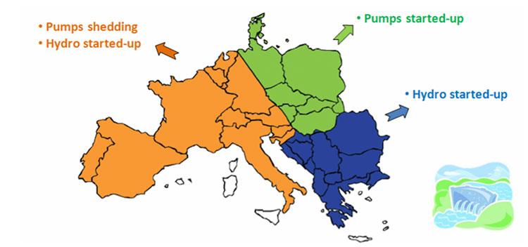 Fig. 11 : Rôle de l'hydro pendant l'incident du 4 novembre 2006