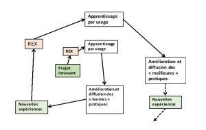 Figure 5. REX, apprentissage par usage et déploiement de l'innovation