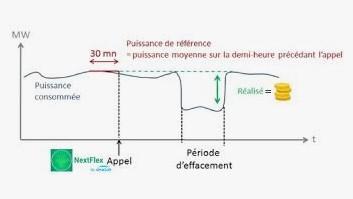 Fig. 2 : Courbe de charge de la flexibilité électrique. (Source : © Netflex)