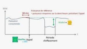 Fig. 2. Courbe de charge de la flexibilité électrique. [Source : © Netflex]