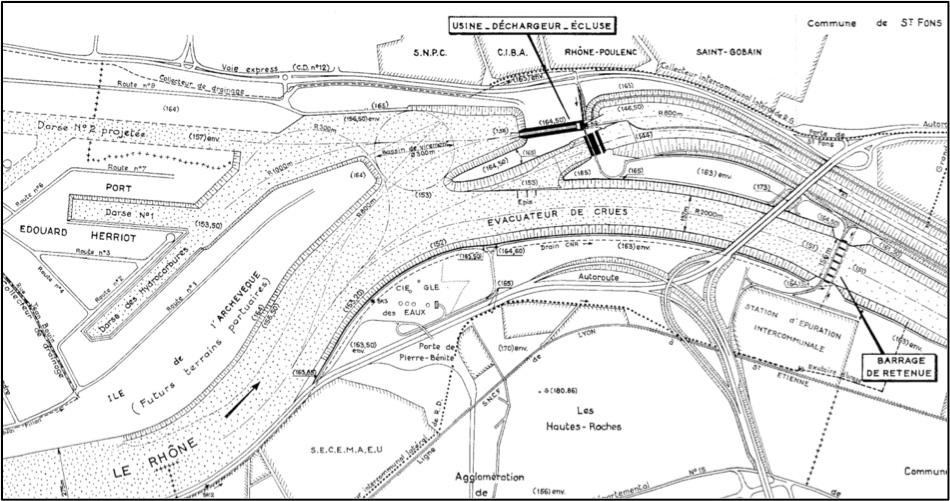 Fig. 16 : Plan d'ensemble des ouvrages. Source: CNR