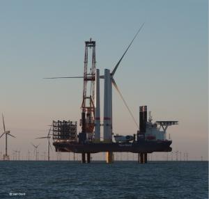 Installation de production d'électricité éolienne en mer