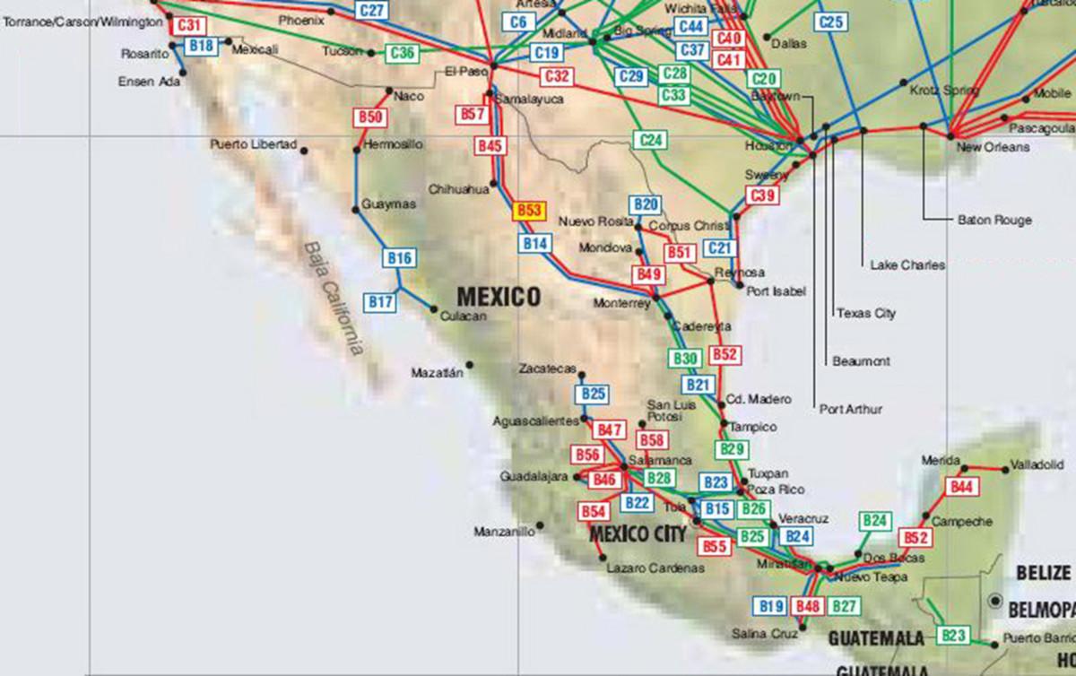 oléoducs gazoducs mexique