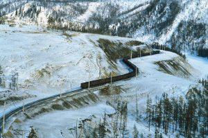 Fig. 4 : Evacuation du charbon d'Irkutsk. Source : Britannica.