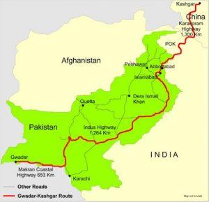 Fig. 4. China-Pakistan Economic Corridor. Source: Indian Defense Review.