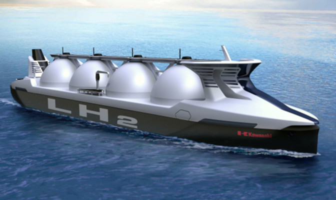 projet transport hydrogene bateau - projet transport h2 liquide