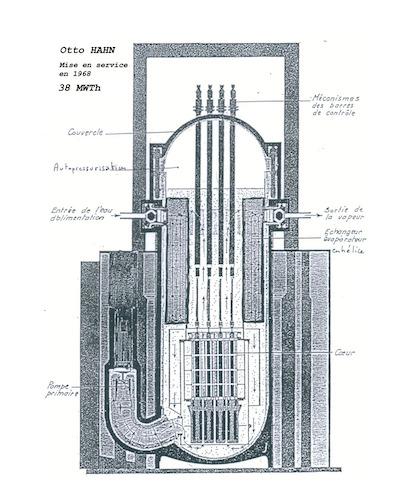 réacteur auto pressurisé otto Hahn allemand